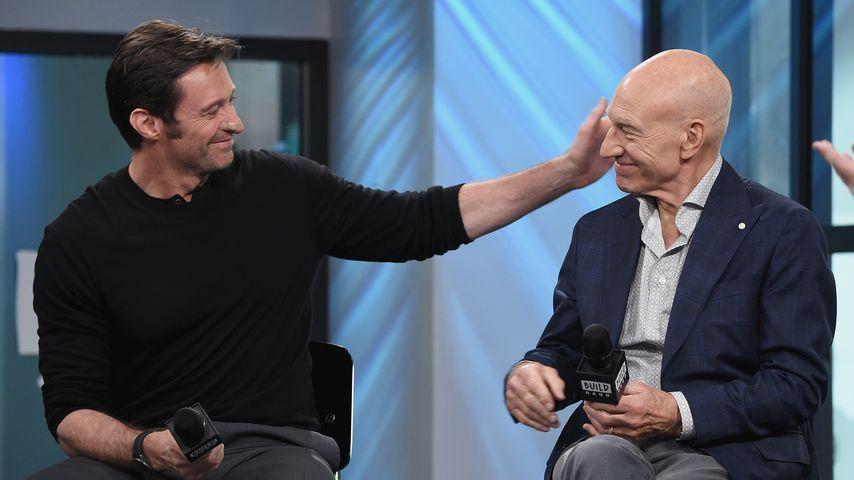 Hugh Jackman und Patrick Stewart in New York City 2017