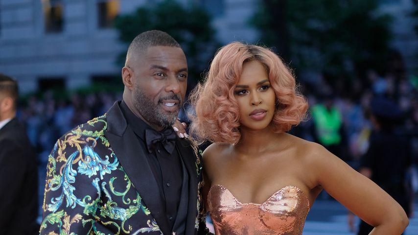 Schauspieler Idris Elba mit seiner Frau Sabrina