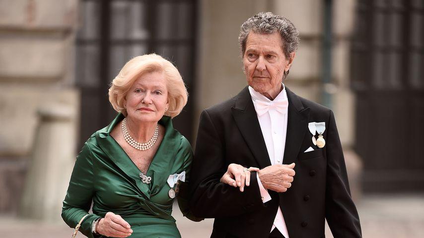 Ingrid und Walther Sommerlath auf der Hochzeit von Prinz Carl Philip und Prinzessin Sofia