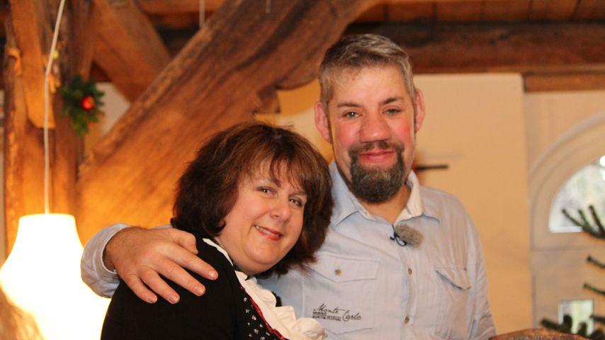 Iris und Uwe Abel kurz nach der Eröffnung ihres Hof-Cafés im Januar 2015
