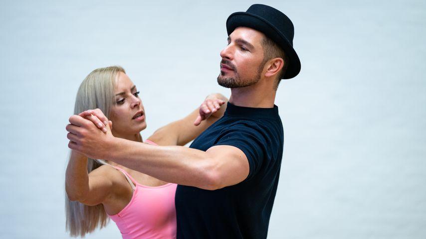 Isabel Edvardsson und Benjamin Piwko beim Training