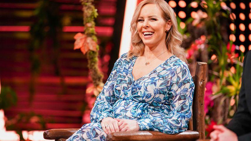 Isabel Edvardsson zu Gast in der Dschungelshow, Januar 2020