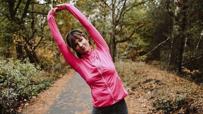 Innere Balance: Isabell Horn entspannt mit Yoga-Übungen