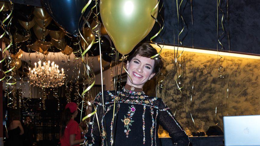 Isabell Horn beim einjährigen Jubiläum des Hair- und Beautysalon KOKOSH in Berlin