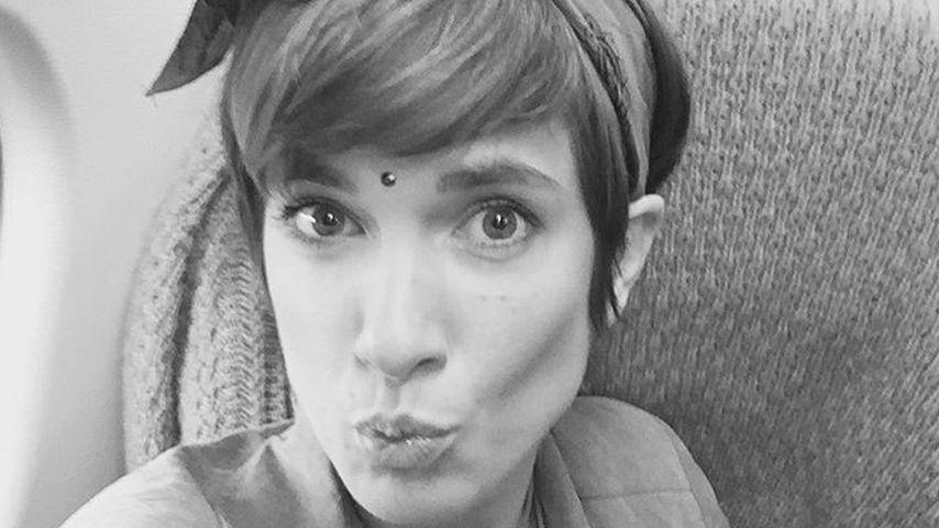 Dicker Kuss aus dem Flieger: Isabell Horn ist urlaubsreif
