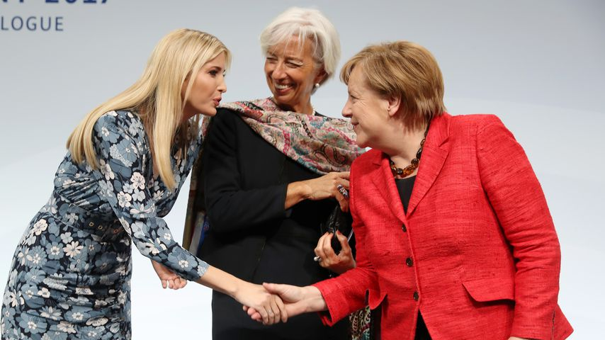 Ivanka Trump, Christine Lagarde und Angela Merkel