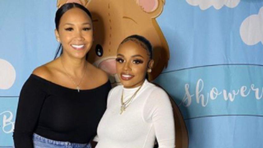 Iyanna Mayweather (r.) mit einer Freundin bei ihre Babyshower