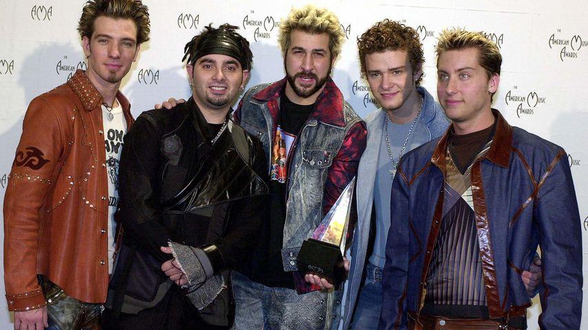 J.C. Chasez, Chris Kirkpatrick, Joey Fatone, Justin Timberlake und Lance Bass im Jahr 2001