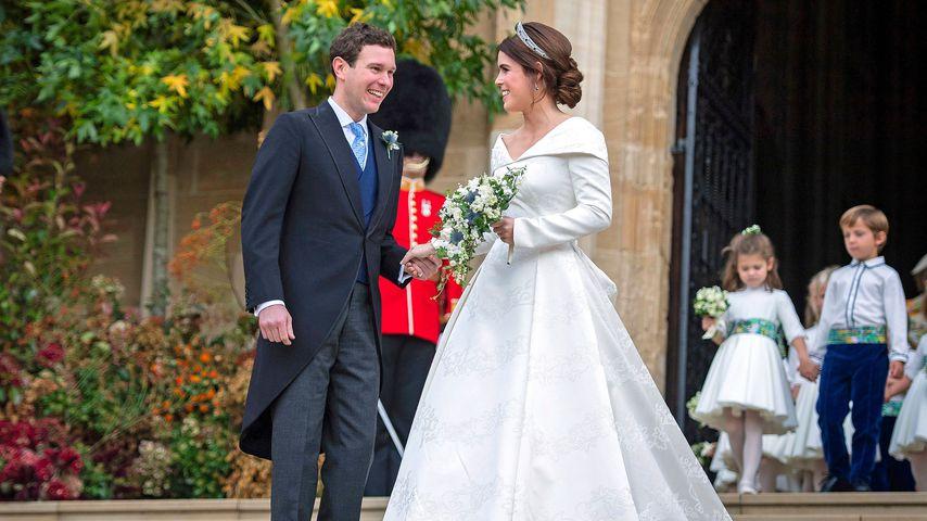 Jack Brooksbank und Prinzessin Eugenie bei ihrer Hochzeit im Jahr 2018