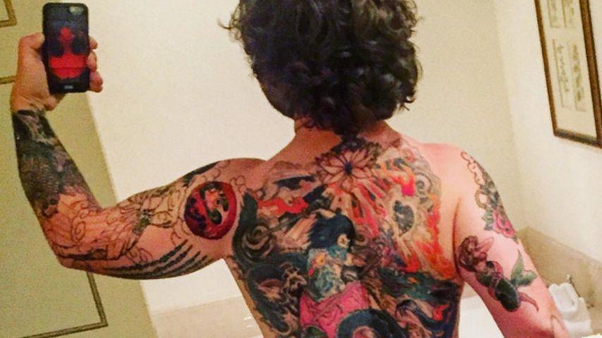 Geheimnis: Jack Osbourne überrascht mit Riesen-Rückentattoo