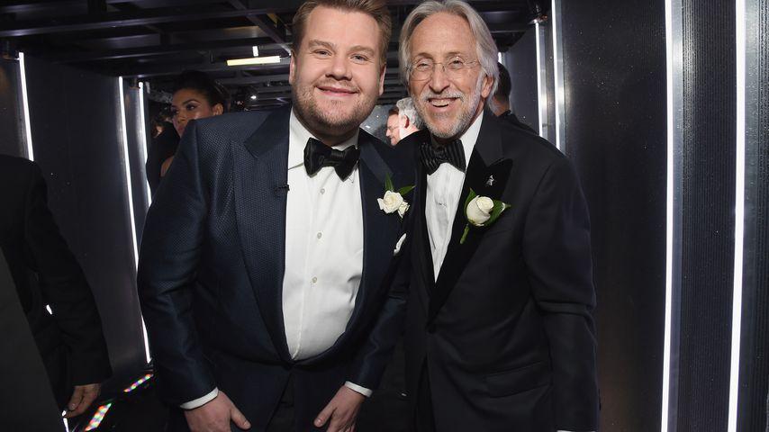 James Corden und Neil Portnow bei der Grammy Verleihung 2018