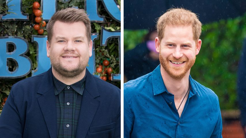 In Hollywood: Prinz Harry bei Dreh mit James Corden erwischt
