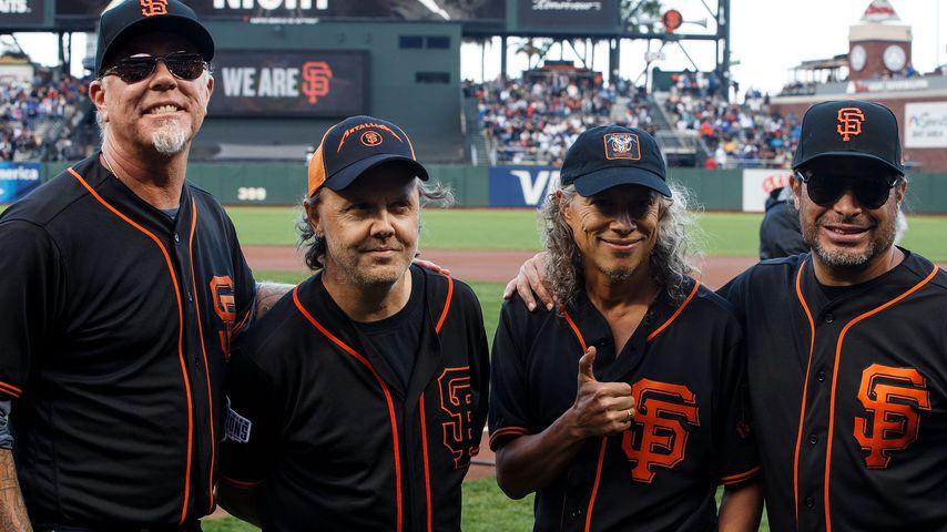 James Hetfield, Lars Ulrich, Kirk Hammett und Robert Trujillo von Metallica