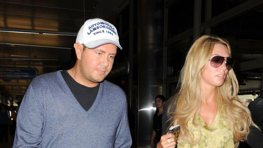 James Stunt und Petra Ecclestone am Flughafen in Los Angeles