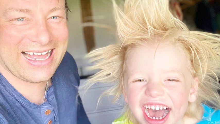 Jamie Oliver mit seinem Sohn River