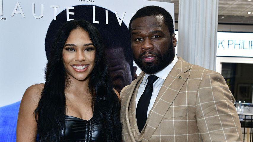 Jamira Haines und 50 Cent im Oktober 2020