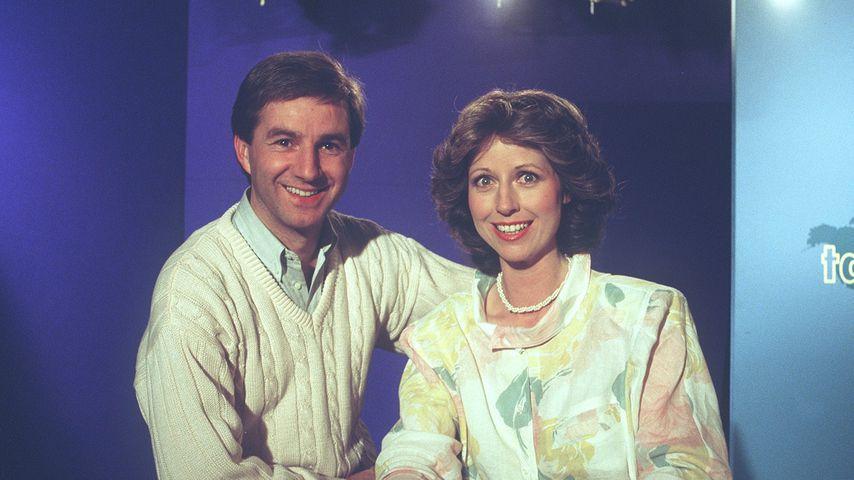 """Jan Hofer und seine """"Tagesschau""""-Kollegin Daniela Witte, 1985"""