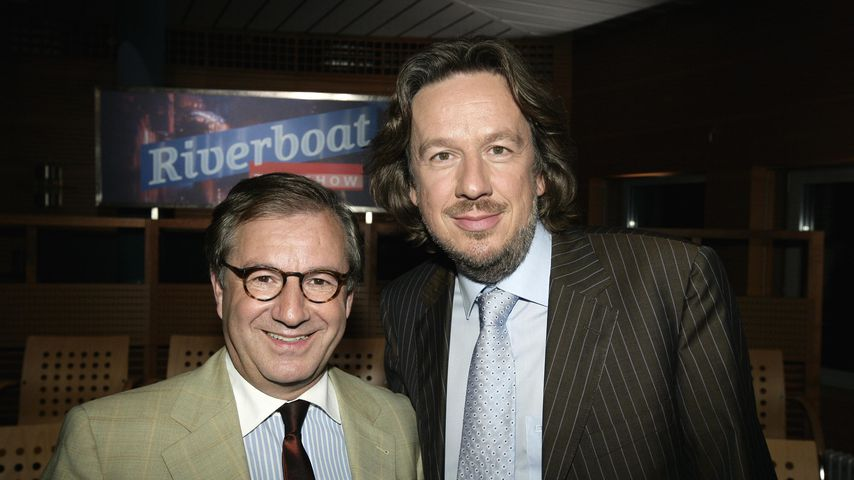 "Jan Hofer und Jörg Kachelmann bei ""Riverboat"" 2008"