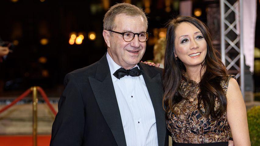 Jan Hofer und Phong Lan bei einem Event in Frankfurt, 2017