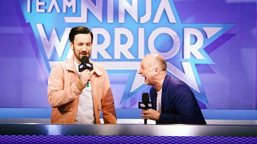 "Jan Köppen und Frank Buschmannn bei ""Team Ninja Warrior Germany - Promi-Special"""