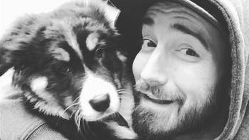 Jan Leyk mit seinem Hund Bruno