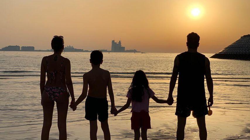 Jana Ina und Giovanni Zarrella mit ihren beiden Kindern in Dubai