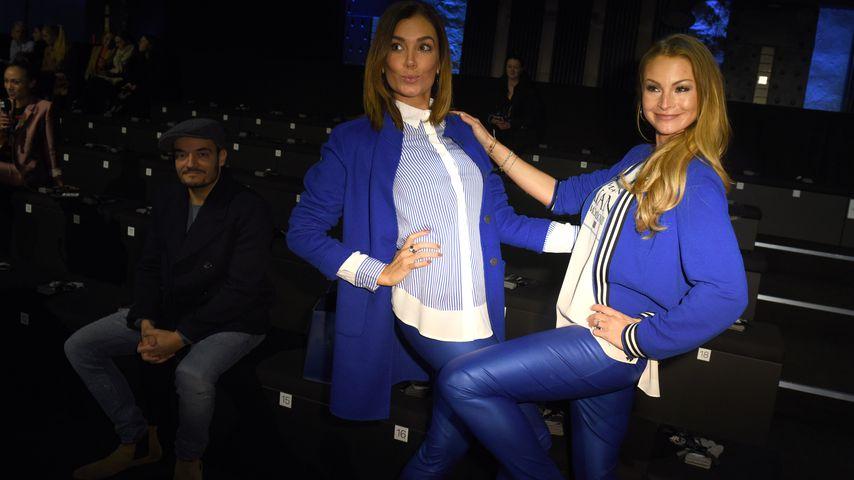 Jana Ina Zarrella und Jana Julie Kilka auf der Berliner Fashion Week