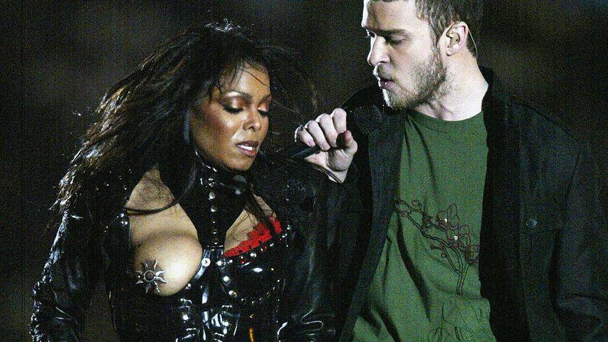 Janet Jackson und Justin Timberlake beim Super Bowl 2004