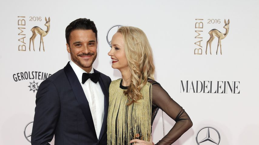 Kostja Ullmann mit Ehefrau Janin bei den Bambi Awards 2016