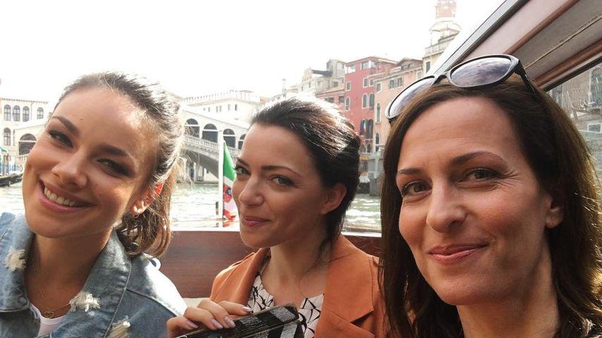 Janina Uhse, Anne Menden und Ulrike Frank in Venedig