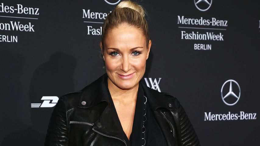 Janine Kunze bei der Mercedes-Benz Fashion Week in Berlin 2013