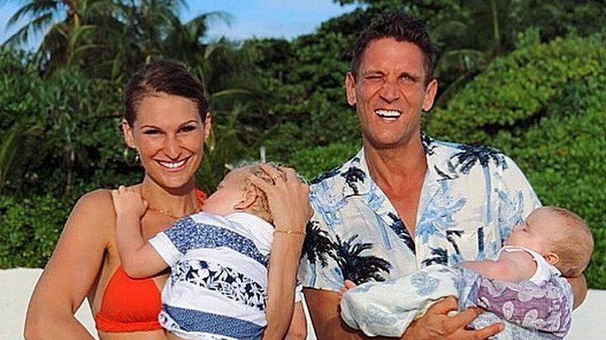 Janni und Peer Kusmagk mit ihren Kindern Emil-Ocean und Yoko
