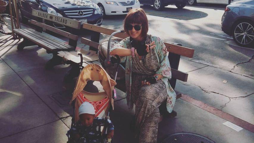 Jasmin Tawil mit ihrem Sohn im Januar 2020