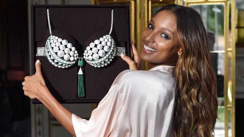 """Jasmine Tookes beim """"Victoria's Secret""""-Fotoshooting mit dem """"Fantasy Bra"""""""