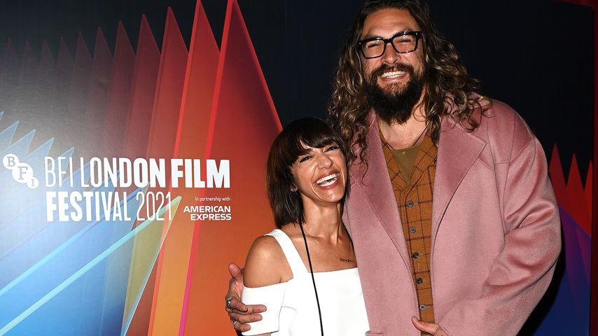 Ana Lily Amirpour und Jason Momoa beim London Film Festival, 2021