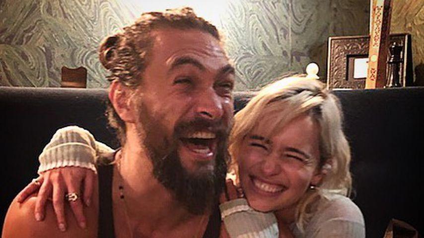 Jason Momoa und Emilia Clarke im November 2017