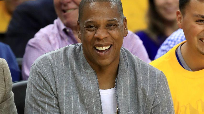 Jay-Z beim NBA-Finale in Oakland
