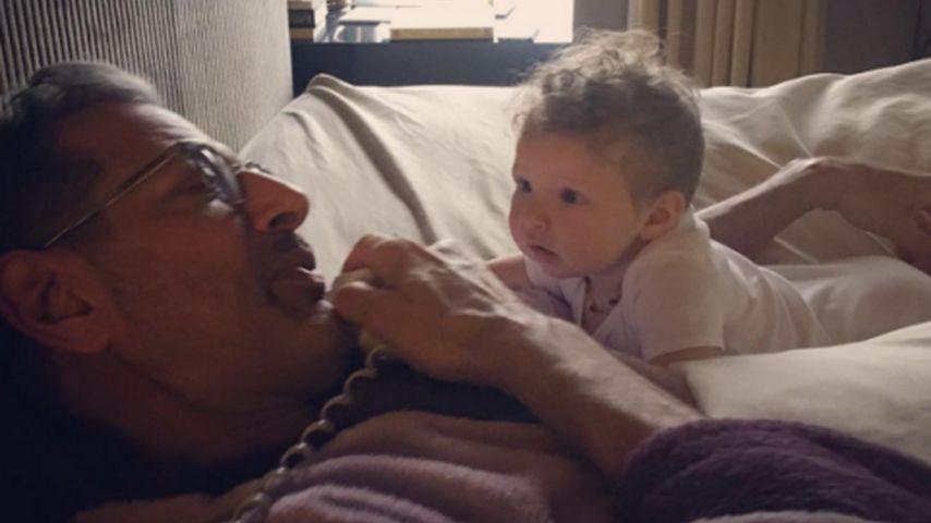 Süßer geht's nicht: Klein Charlie & Papa Jeff Goldblum