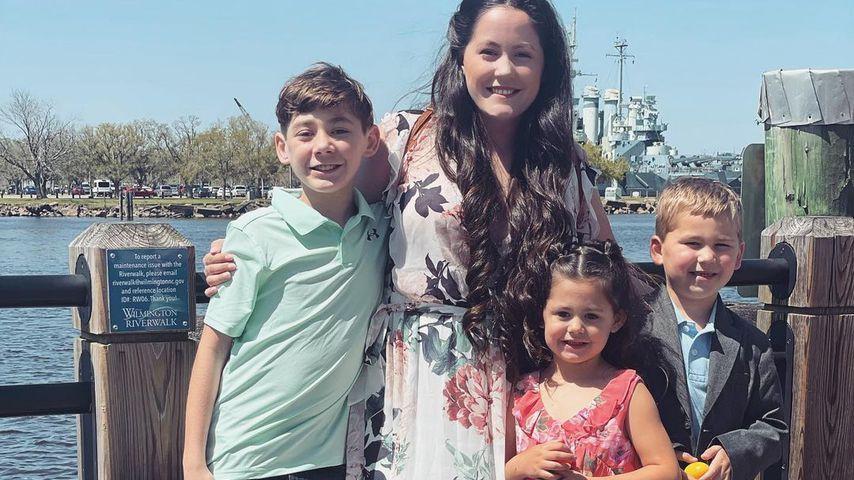 Jenelle Evans mit ihren drei Kindern