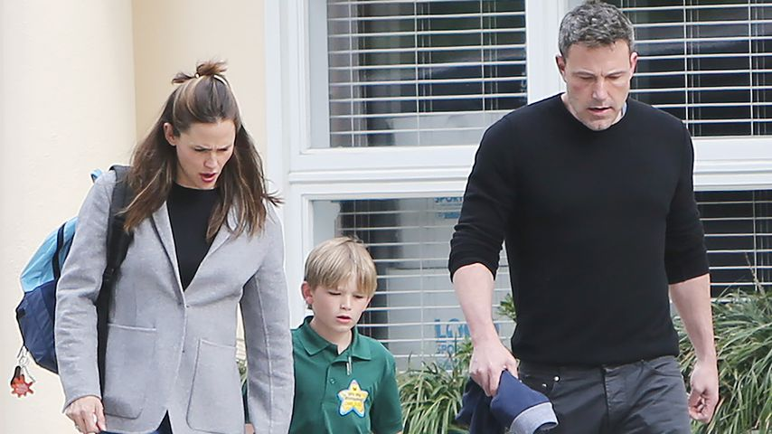 Jennifer Garner und Ben Affleck mit ihrem Sohn Samuel im Februar 2020