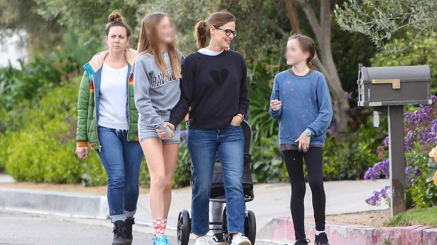 Jennifer Garner mit ihren Kindern