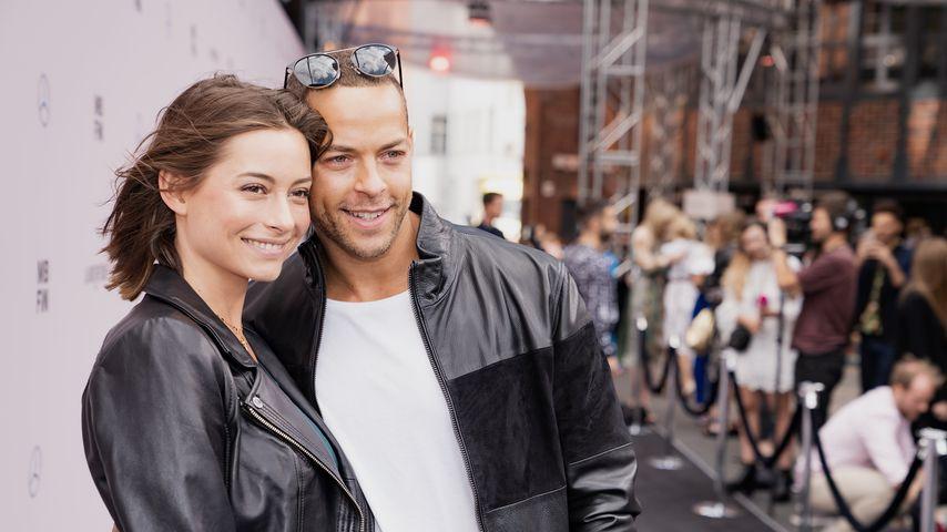 Jennifer Lange und Andrej Mangold bei der Mercedes-Benz Fashion Week 2019