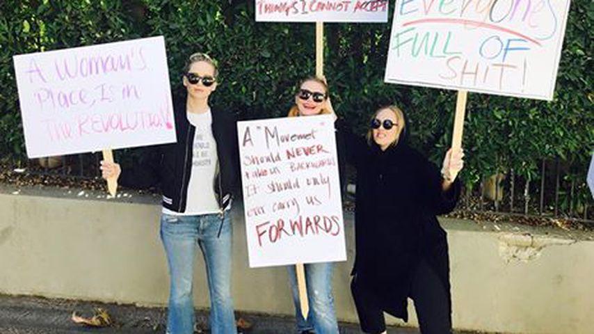Jennifer Lawrence, Cameron Diaz und Adele beim Women's March in Washington