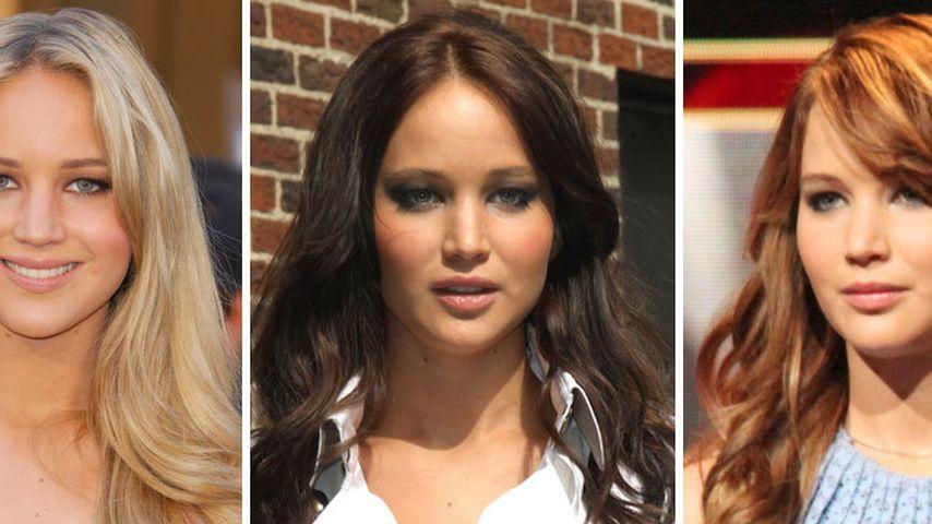 Jennifer Lawrence Blond Braun Und Jetzt Rot Promiflashde
