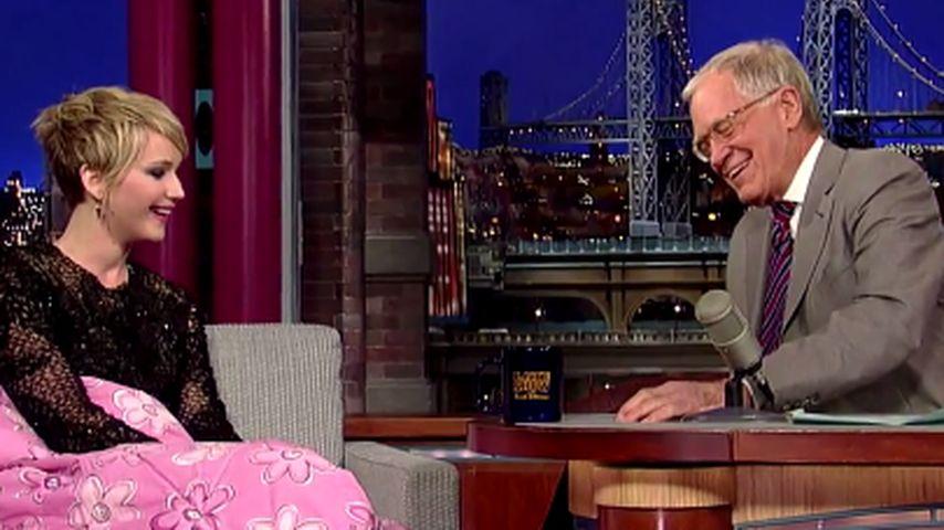 Jennifer Lawrence und David Letterman