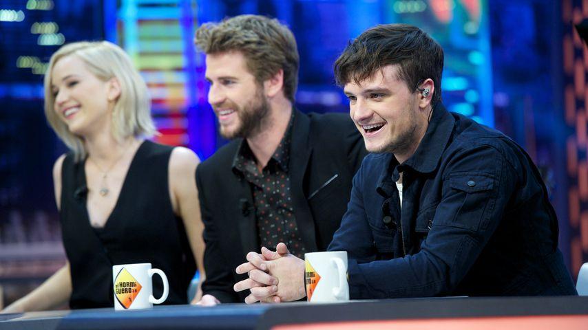 Jennifer Lawrence, Liam Hemsworth und Josh Hutcherson in einer TV-Show