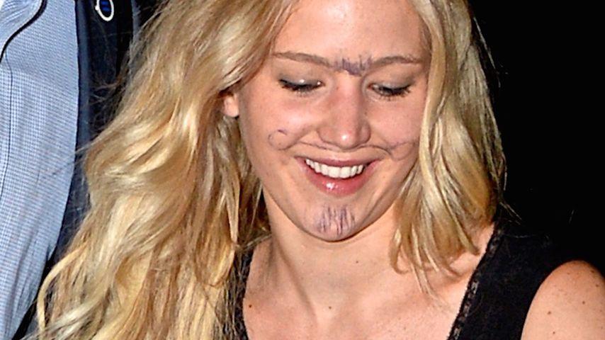 Perfekte Tarnung? Jennifer Lawrence trägt jetzt Bart