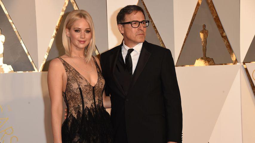 Jennifer Lawrence und David O. Russell bei den Oscars 2016