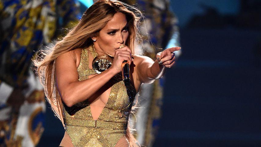 Jennifer Lopez bei einem Auftritt in New York