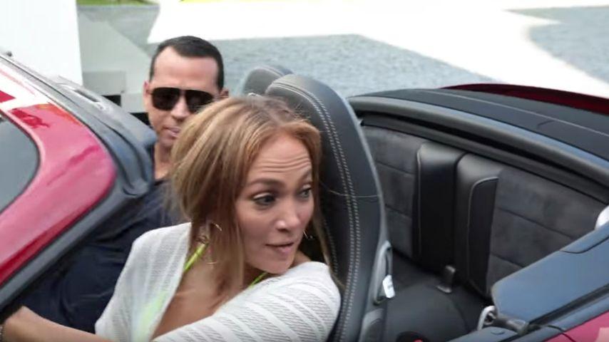 Jennifer Lopez und Alex Rodriguez in einem Porsche